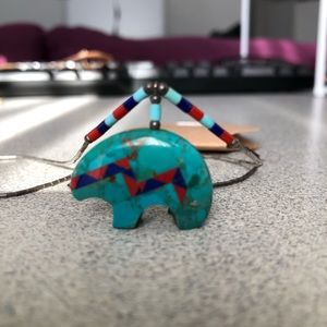 Jewelry - Necklace Native American turquoise bear